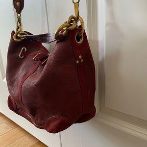 Jerome Dreyfuss Tanguy Burgundy Bucket Bag